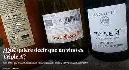 Organic wine o Demeter